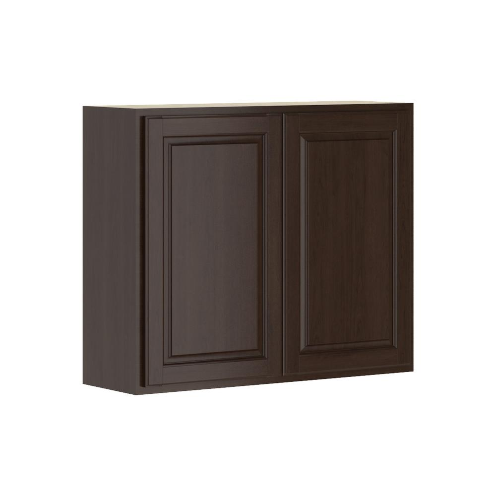 Madison Assembled 36x30x12 in. Wall Cabinet in Java