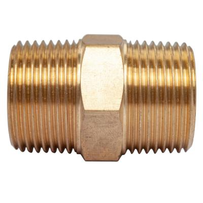 3/4 in. MIP Brass Pipe Hex Nipple Fitting (5-Pack)