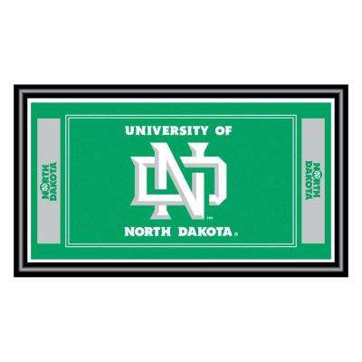 University of North Dakota 15 in. x 26 in. Black Wood Framed Mirror