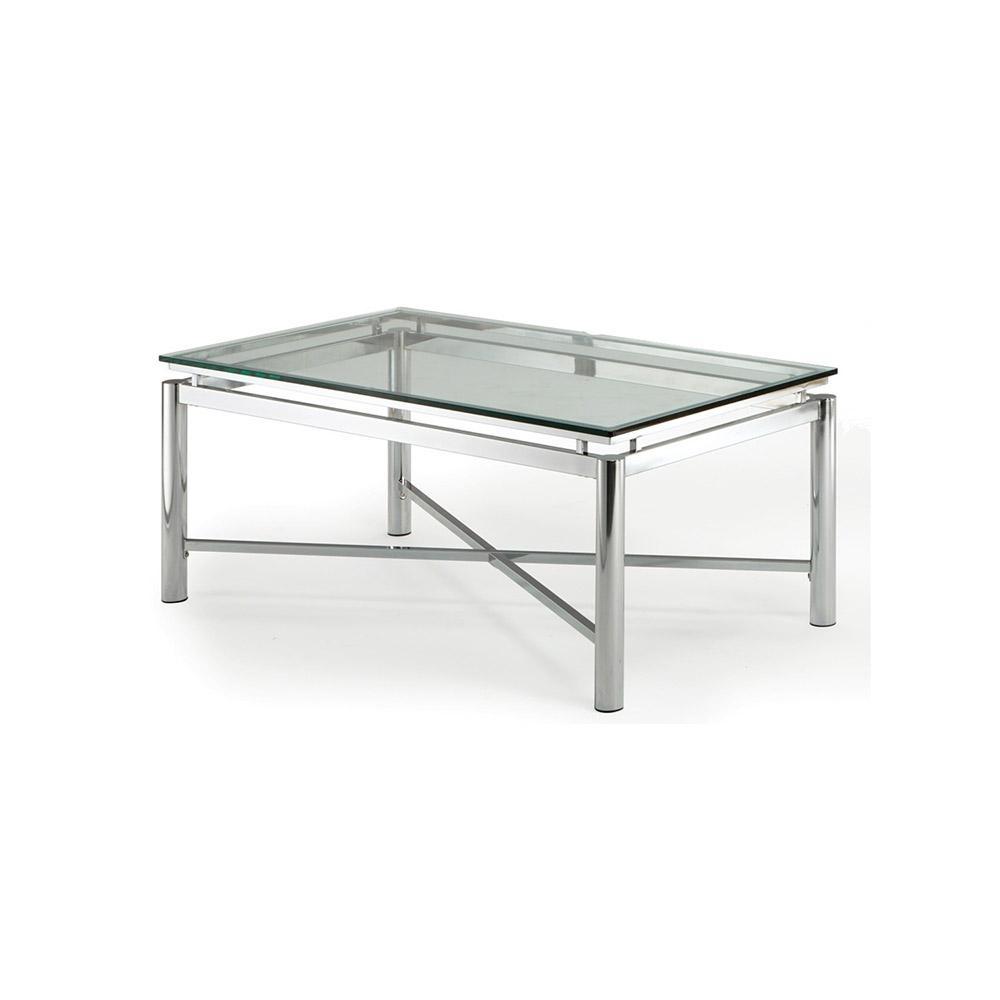 Nova Glass And Chrome Cocktail Table Nv100ctbl The Home Depot