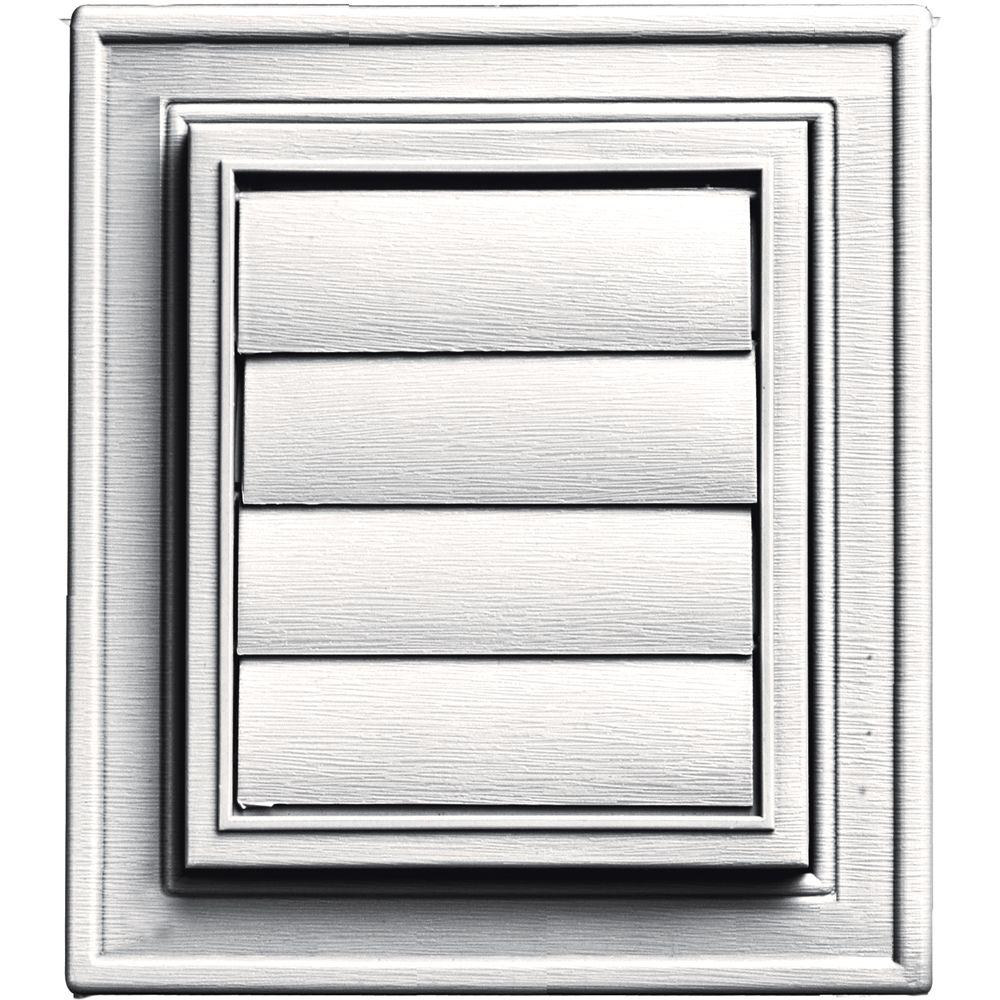 Builders Edge Square Exhaust Siding Vent #117-Bright White