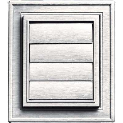 Square Exhaust Siding Vent #117-Bright White