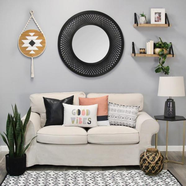 Stratton Home Decor Hanging Boho Wood Wall Art S23695 The Home Depot