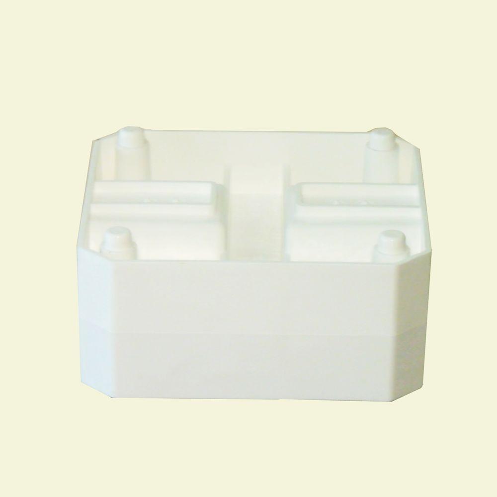 Border Blocks 9.77 in. W x 9.77 in. D x 4.77 in. H Inline Block White (1 Piece)
