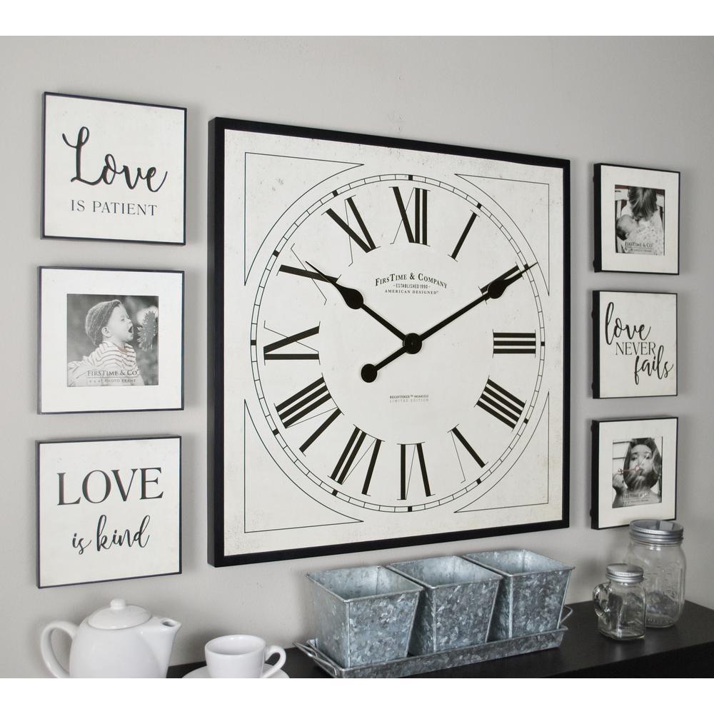 32 in. x 20 in. Love White Frame Gallery Set