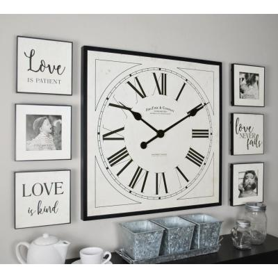 32 in. x 20 in. Love White Frame Gallery Set