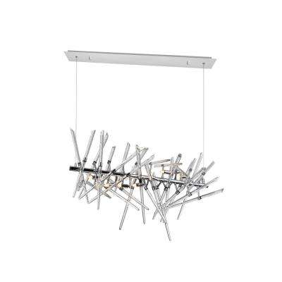 Icicle 9-Light Chrome Contemporary Chandelier