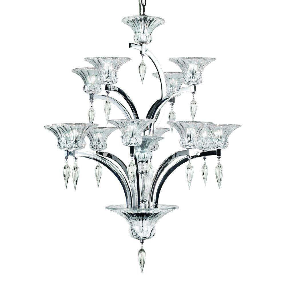 Eurofase Ombrelle Collection 12-Light 100 in. Chrome Chandelier-DISCONTINUED