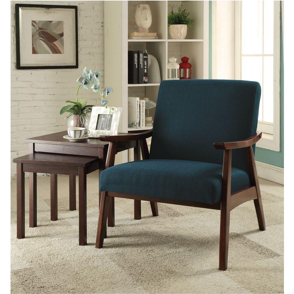 OSP Home Furnishings Davis Klein Azure Fabric Arm Chair DVS51-K14