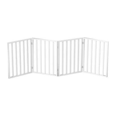 72 in. x 24 in. Wooden Freestanding White Pet Gate
