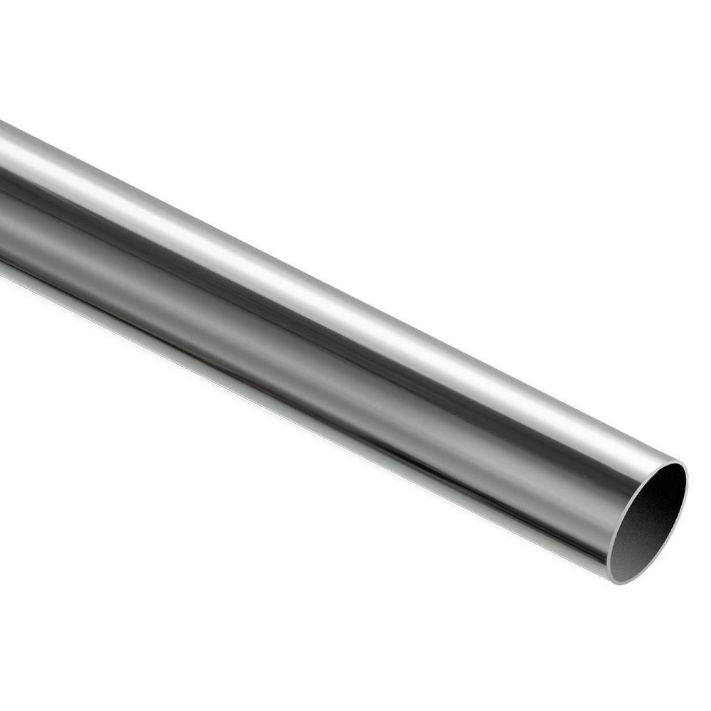 72 in. x 1-5/16 in. Polished Chrome Heavy Duty Closet Rod