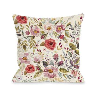 Wild Flower Patch 16 in. x 16 in. Decorative Pillow