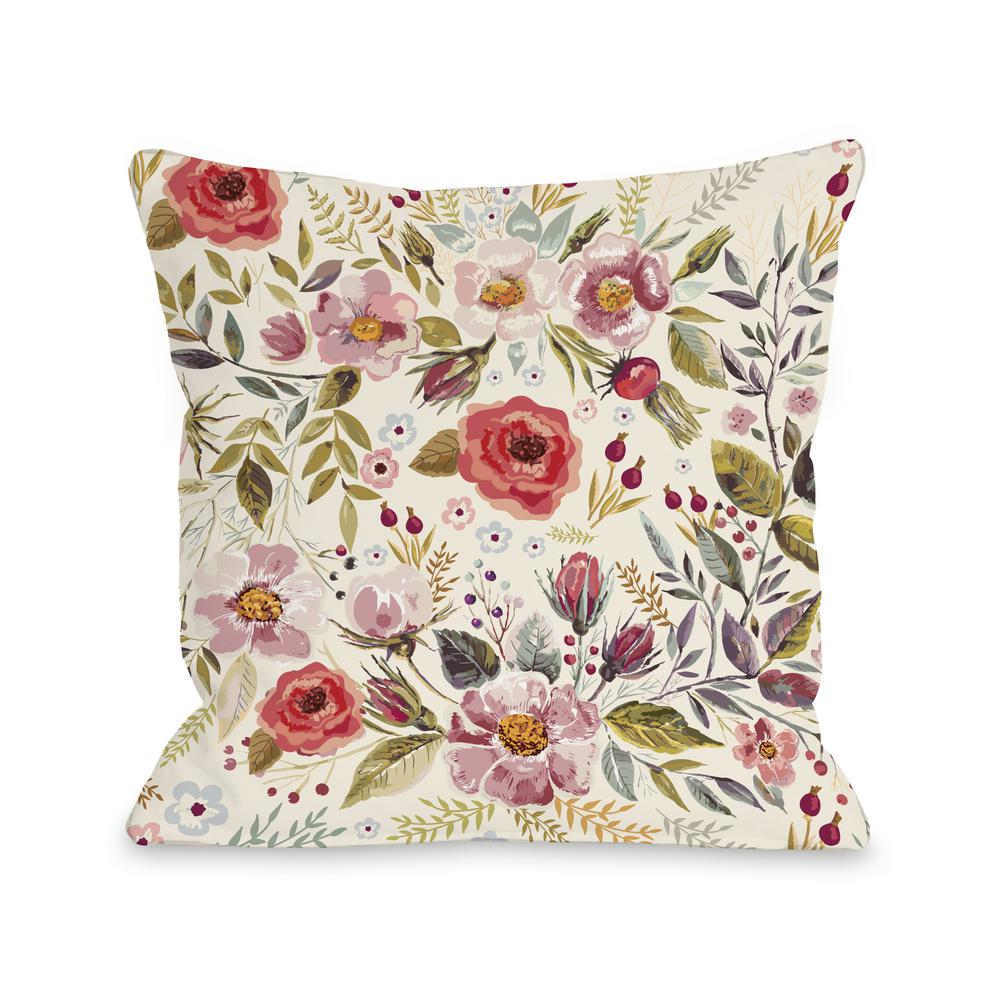 Wild Flower Patch 16 In X 16 In Decorative Pillow 74859pl16 The