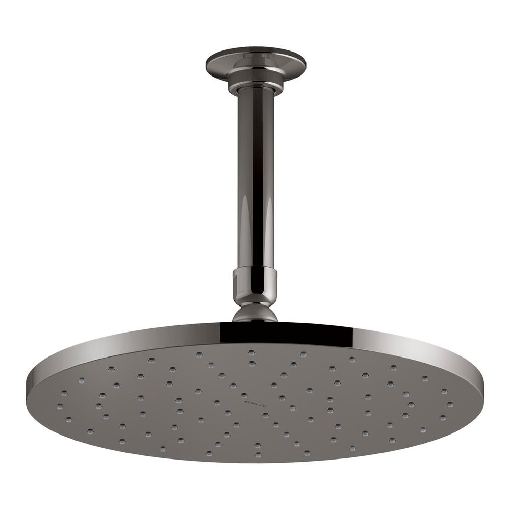 Contemporary 10 in. Round Rain Head Air-Induction 1-Spray Shower Head in