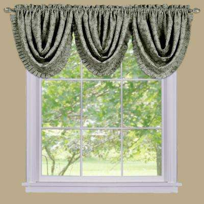 Blackout Sutton 36 in. L Polyester Waterfall Valance in Sage