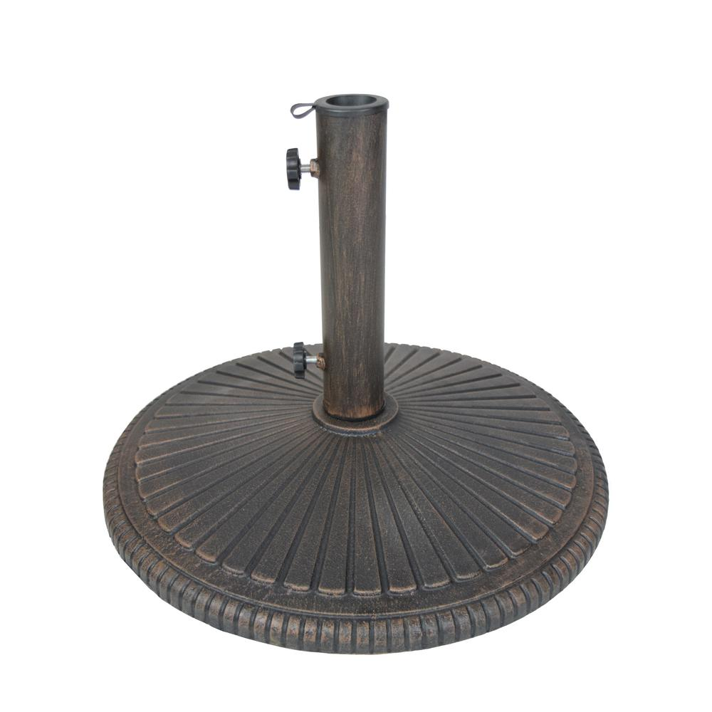 Cast Iron Patio Umbrella Base In Bronze Hd4230 Us50 Ab The Home Depot