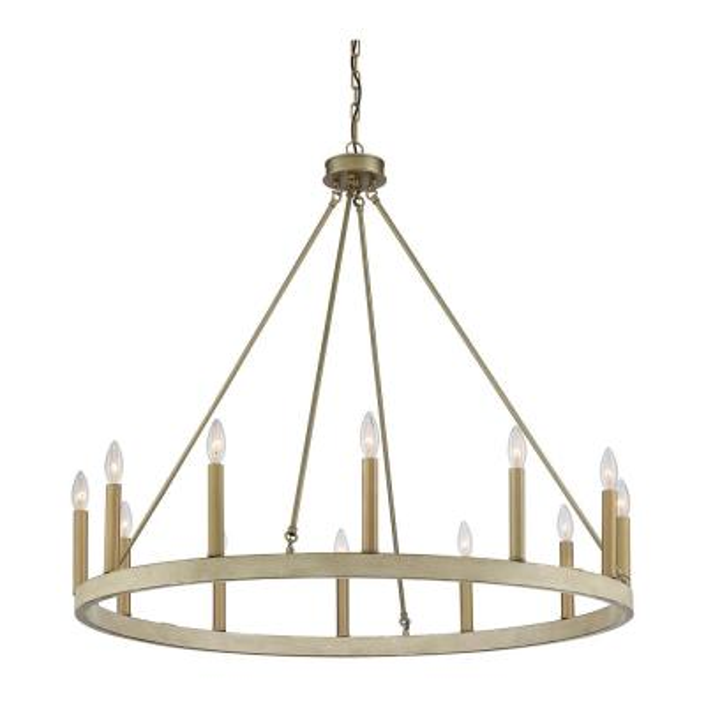 Brass Wagon Wheel E12 Chandeliers Lighting The Home Depot