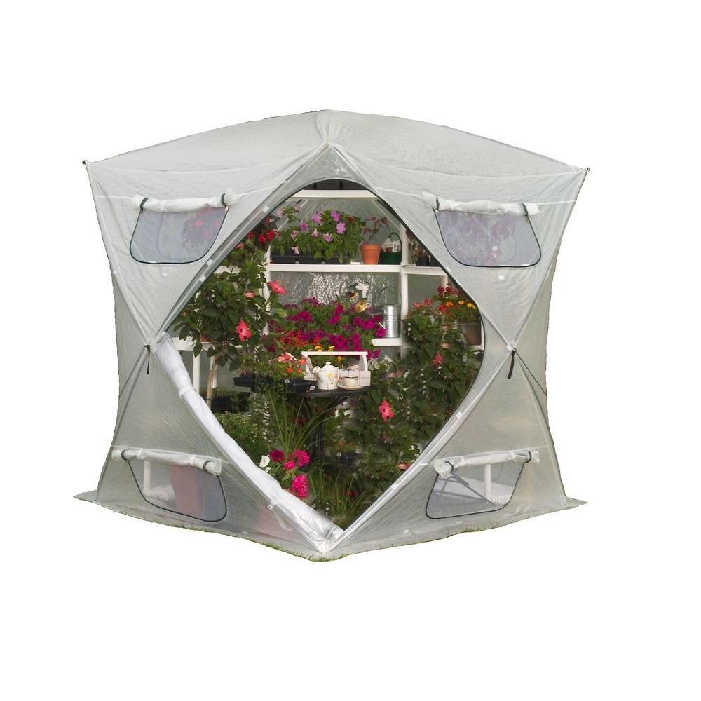 FlowerHouse BloomHouse 7 ft. x 7 ft. Pop-Up Greenhouse by FlowerHouse