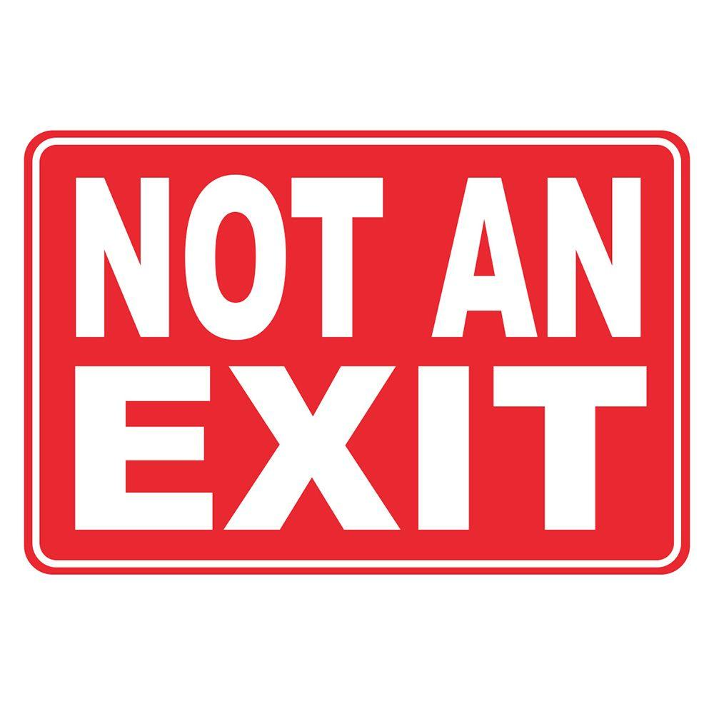 Rectangular Plastic Not an Exit Sign-PSE-0091 - The Home Depot
