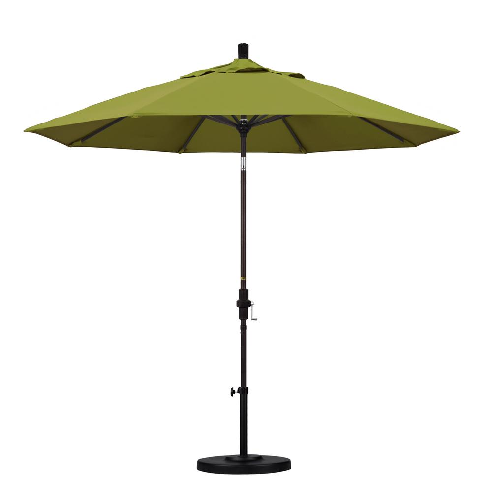 California Umbrella 9 ft. Aluminum Collar Tilt Patio Umbrella in Ginkgo Pacifica