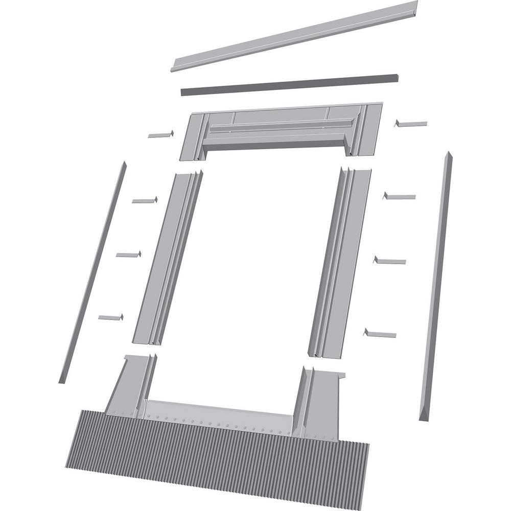 EH-C 46 in. x 46 in. Aluminum High-Profile Tile Roof Flashing