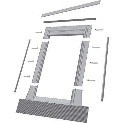 EH-C 46 in. x 46 in. Aluminum High-Profile Tile Roof Flashing Kit for Curb Mount Skylight