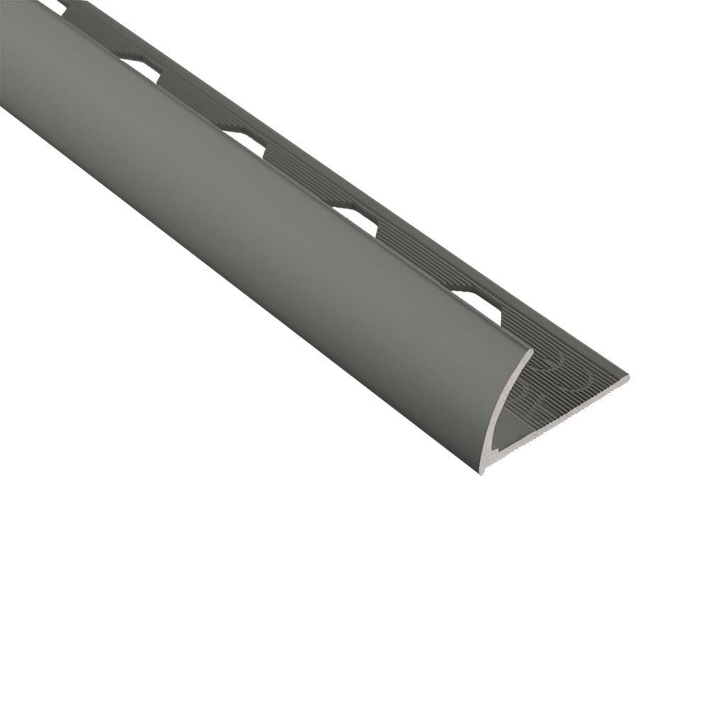 Emac Novocanto Matt Graphite 1/2 in. x 98-1/2 in. Aluminum Tile Edging Trim