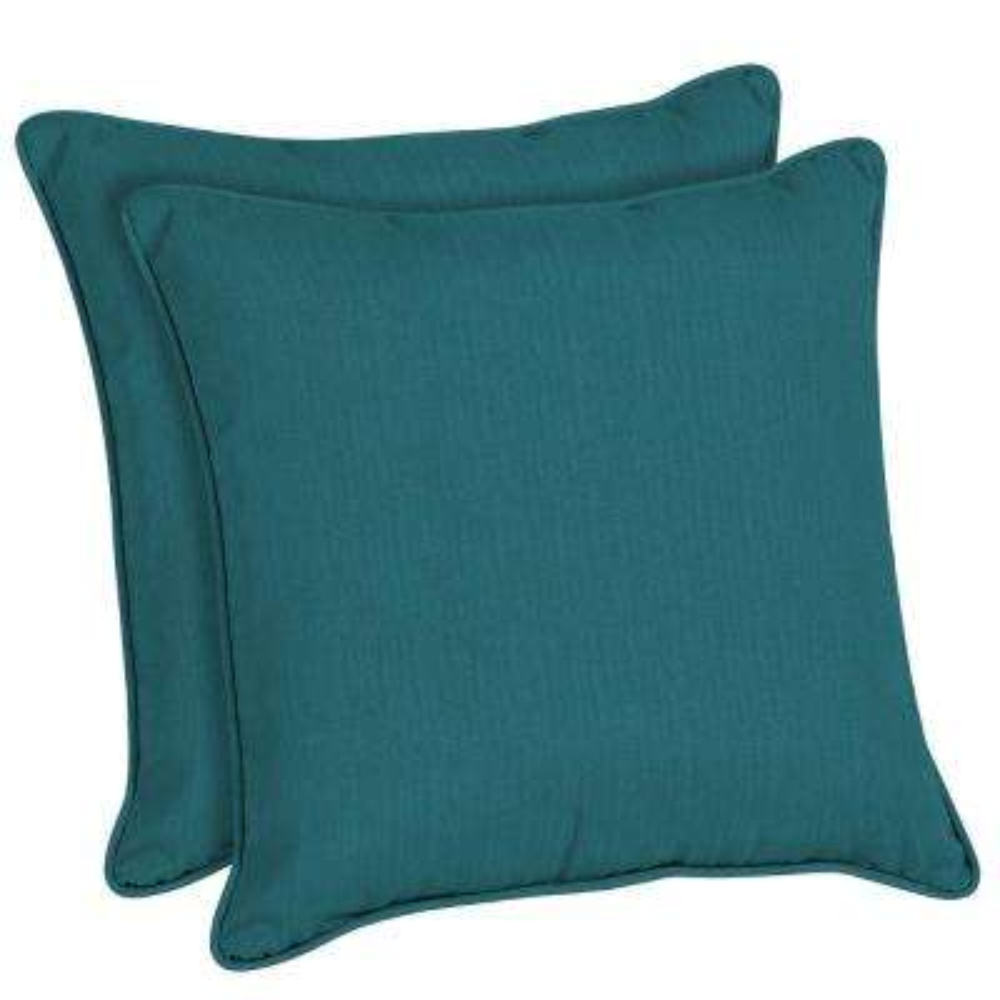 Sunbrella Spectrum Peacock Square Outdoor Throw Pillow (2-Pack)