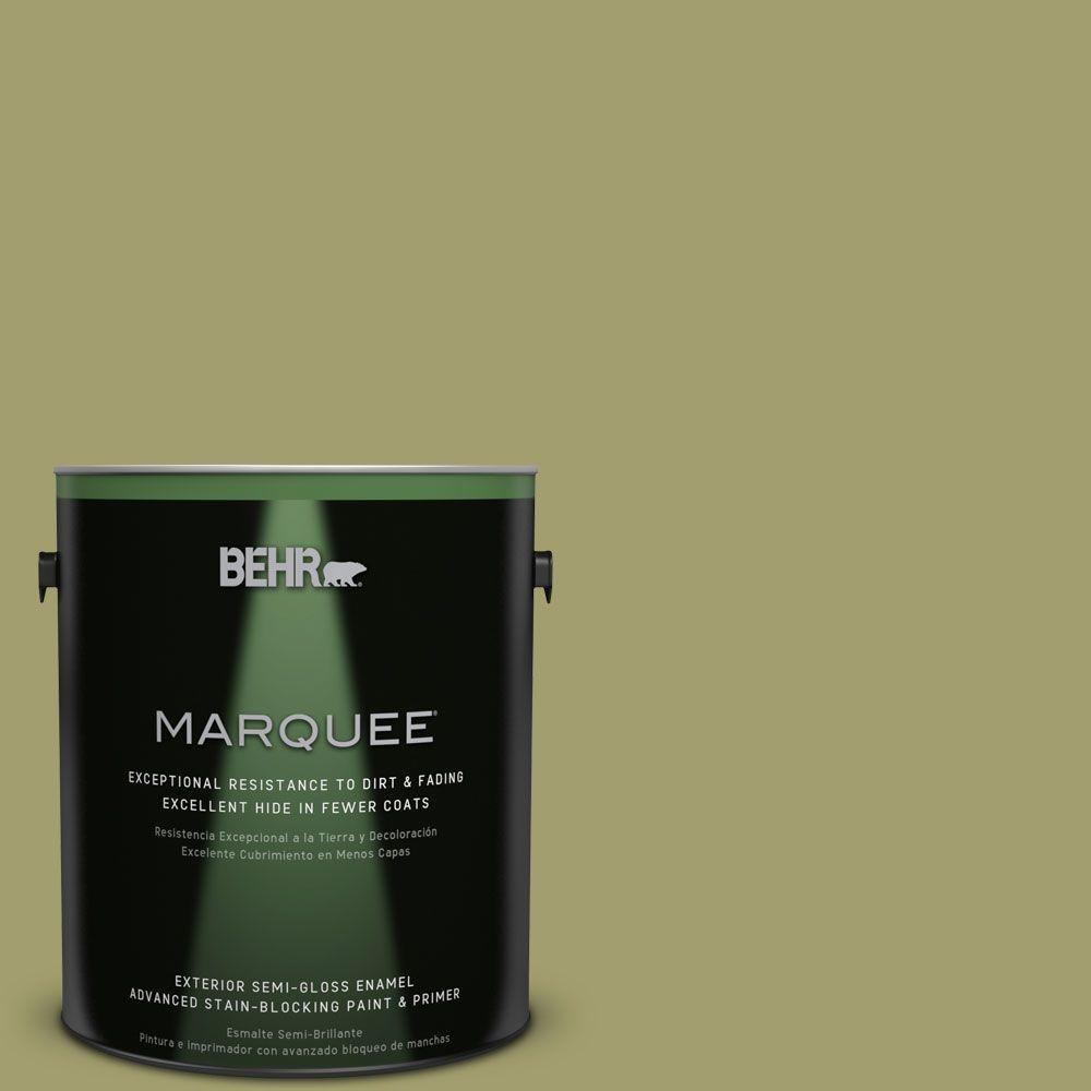 BEHR MARQUEE 1-gal. #S340-5 Farm Fresh Semi-Gloss Enamel Exterior Paint