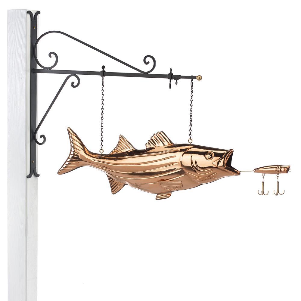 Bass Copper Hanging Wall Sculpture - Home Decor