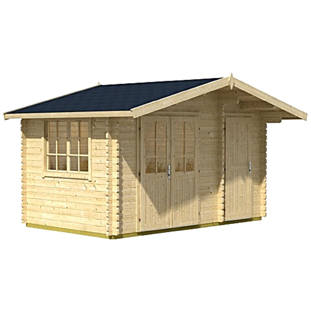 Lasita maja allwood 157 sq ft cabin kit garden house