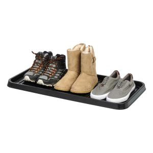 Deals on IRIS 3-Pair Shoe Organizer Tray in Black 2-Pack