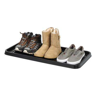 3-Pair Shoe Organizer Tray in Black (2-Pack)