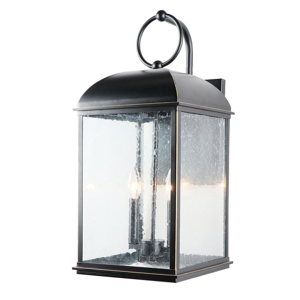 Y Decor 22.5 In. Medium 2 Light Outdoor Wall Lantern In