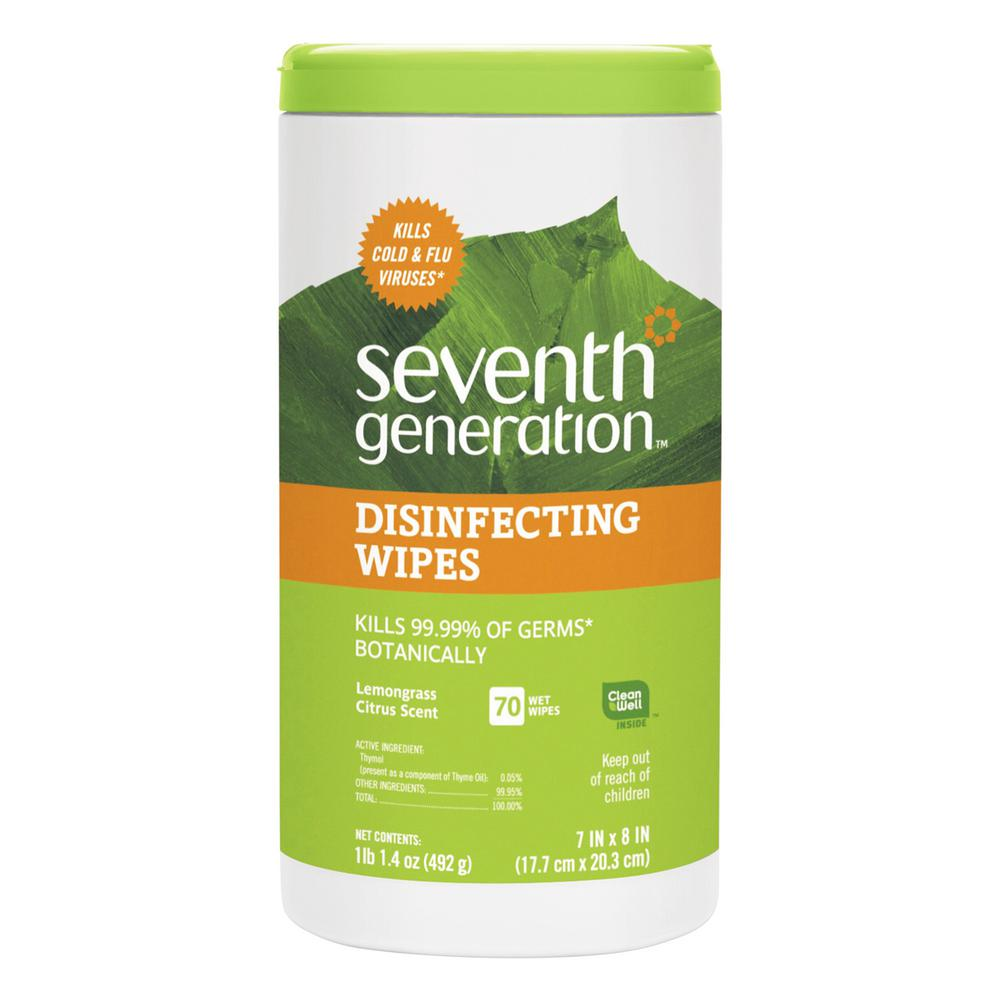 Lemongrass Scent Disinfecting and Cleaning Wipes (70-Count)