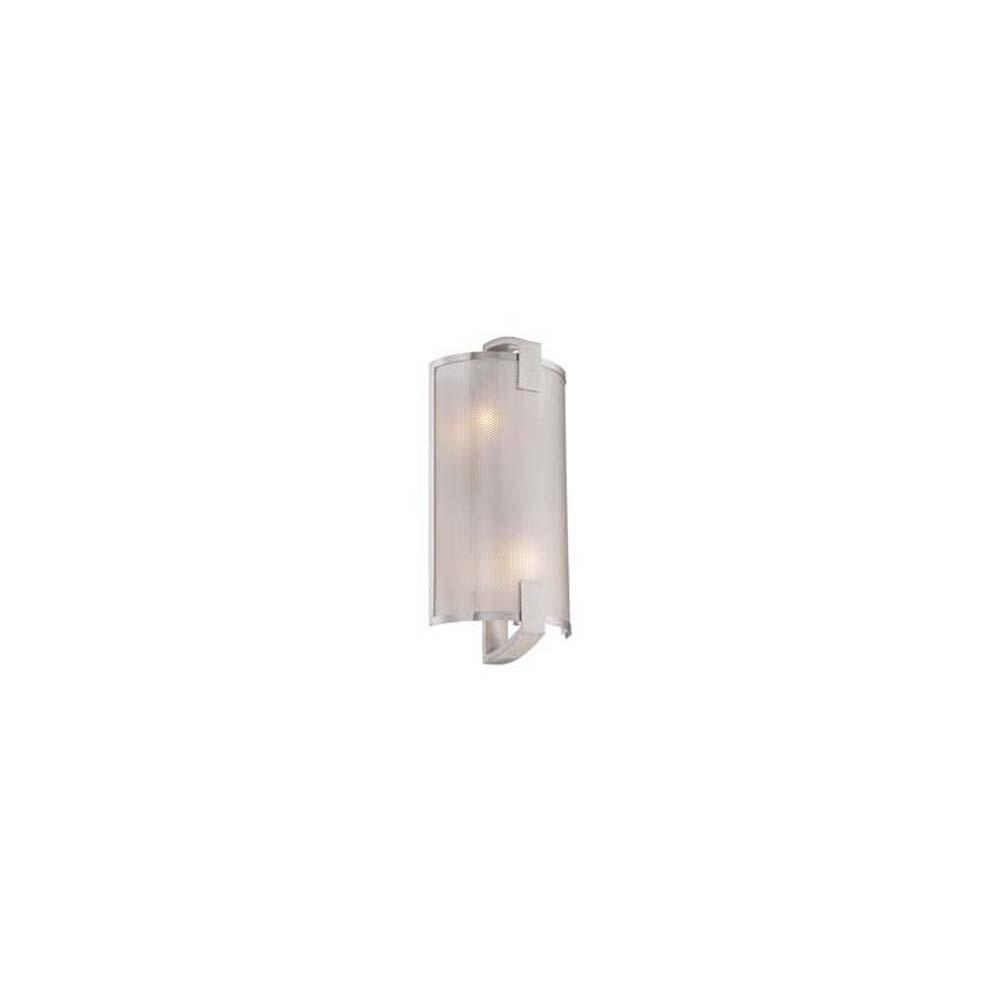 Bel Air Lighting 2 Light White Pocket Cylinder Sconce With