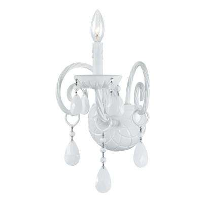 1-Light Wet White Wall Mount Sconce