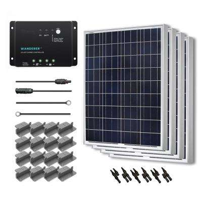 400-Watt 12-Volt Polycrystalline Solar Starter Kit for Off-Grid Solar System