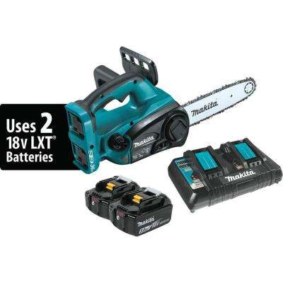 18-Volt X2 (36-Volt) LXT Lithium-Ion Cordless Chain Saw Kit with (2) Batteries 5.0Ah, Dual Port Charger, and Chain