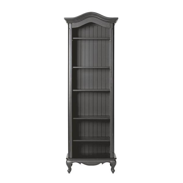 undefined Provence Black Open Bookcase