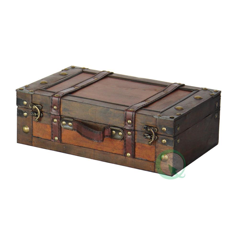 Vintiquewise Antique Brown Trunk