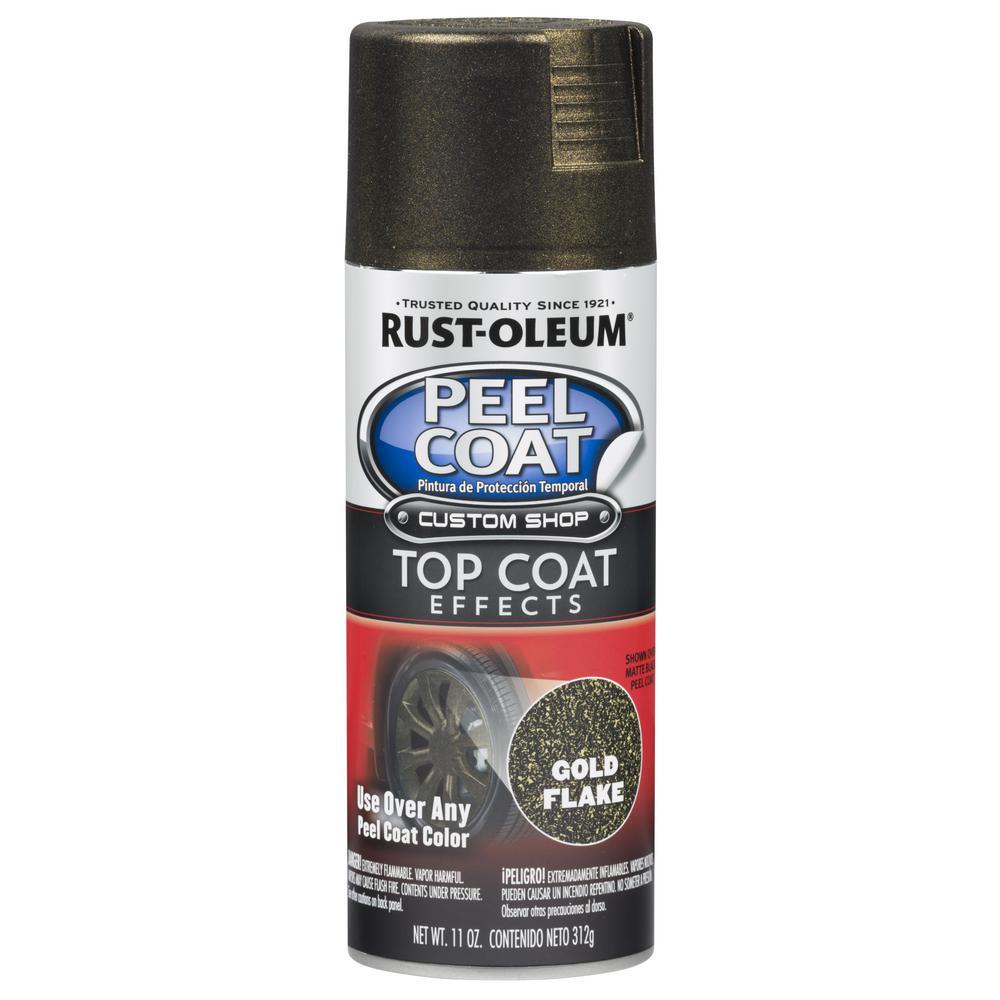 Rust-Oleum Automotive 11 oz. Peel Coat Metallic Gold Flake Rubber Coating Spray Paint (6-Pack)