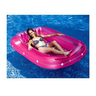 71 in. Swimming Pool Inflatable Suntan Tub Float Lounge Chairs (3-Pack)