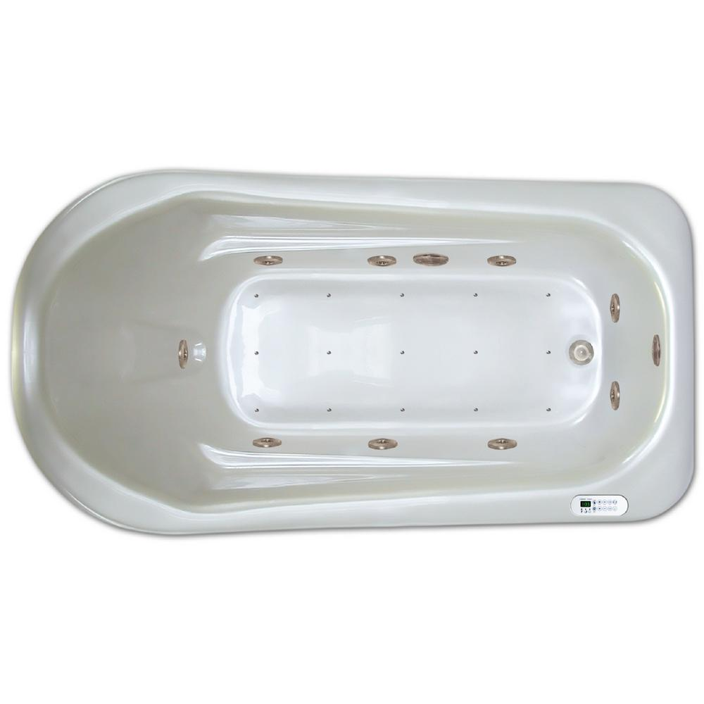 6 ft left drain drop in rectangular whirlpool and air for 6 ft tub