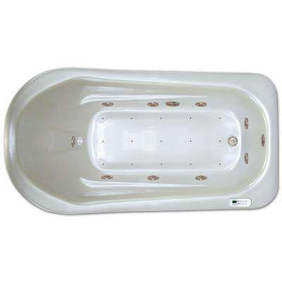 6 ft. Left Drain Drop-in Rectangular Whirlpool and Air Bath Tub in White with Tranquility Package