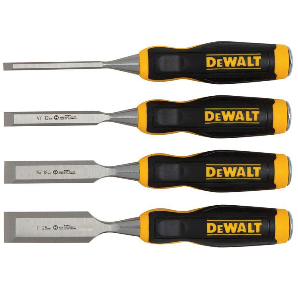 Dewalt Wood Chisel Set 4 Piece Dwht16063 The Home Depot