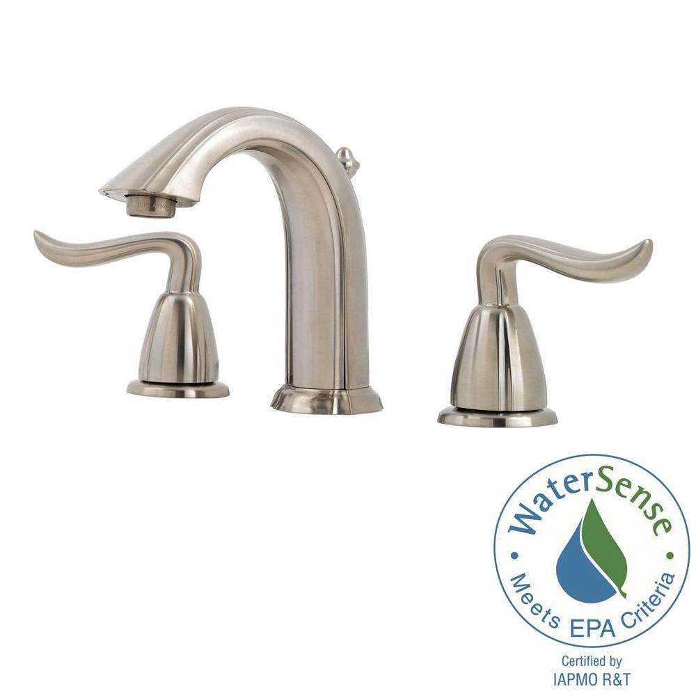Pfister Santiago 8 In Widespread 2 Handle Bathroom Faucet In Brushed Nickel Lf 049 St0k The