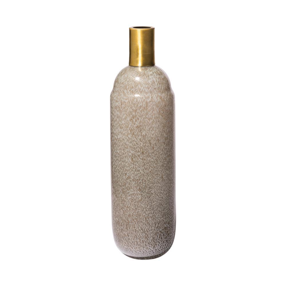 Toba III Large Antique Gold Large Decorative Vase