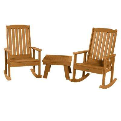 Lehigh Toffee 3-Piece Recycled Plastic Patio Conversation Set