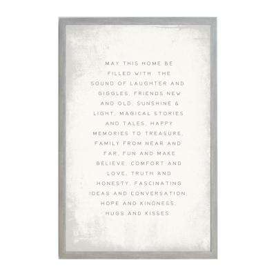 May this Home be Filled,  VINTAGE FRAME, Magnetic Memo Board